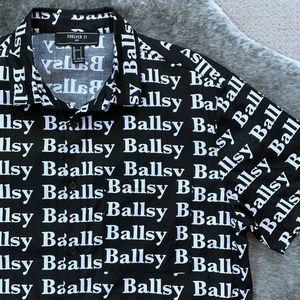 Forever 21 Mens Ballsy Shirt